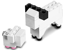 lego mini animal model
