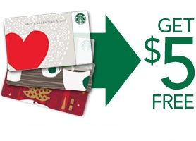 starbucks 5 dollar gift card